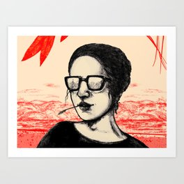Mono Glasses III Art Print