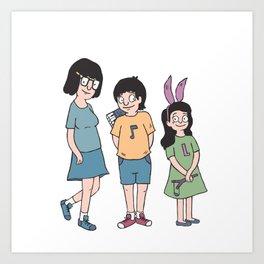 Bob's Burgers - Kids Art Print