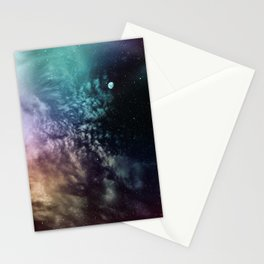 Polychrome Moon Stationery Cards