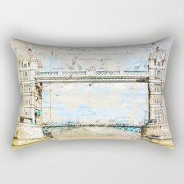 Tower Bridge, London England Rectangular Pillow
