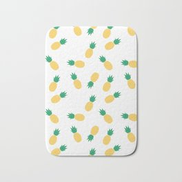 PINEAPPLE ANANAS FRUIT FOOD PATTERN Bath Mat