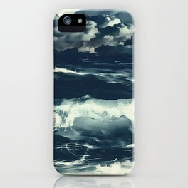 stormy sea waves reacfn iPhone Case