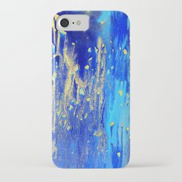 Gold & blue abstract art no.7 iPhone Case