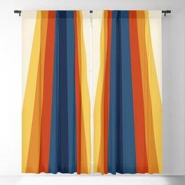 Bright 70's Retro Stripes Blackout Curtain