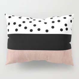Pink marble and dots Pillow Sham