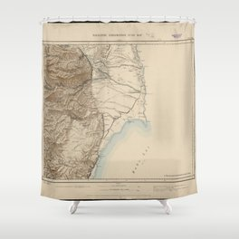 Palestine Exploration Fund Map Shower Curtain