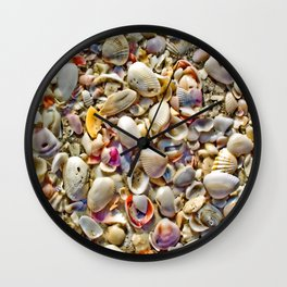 Seashells on the Shore Wall Clock