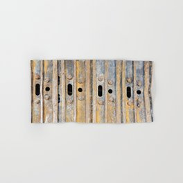 Rusty excavator caterpillar Hand & Bath Towel