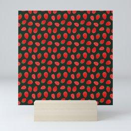 strawberries pattern Mini Art Print