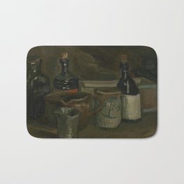 Still Life with Bottles and Earthenware Bath Mat