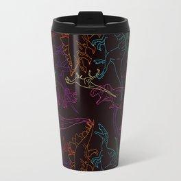 Psychedelic Dino Travel Mug