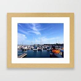 At the Boatyard Framed Art Print