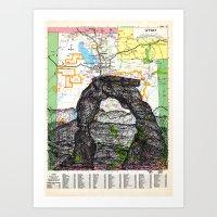 utah Art Prints featuring Utah by Ursula Rodgers