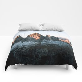 Dolomites sunset panorama - Landscape Photography Comforters