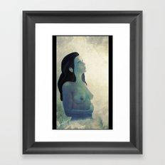 Infinite Gaze to the Moon Framed Art Print