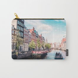 Colorful Amsterdam Canals | Europe Travel City Urban Landscape Photography Carry-All Pouch