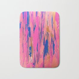 When Flamingoes Rendezvous (there is fun) Bath Mat