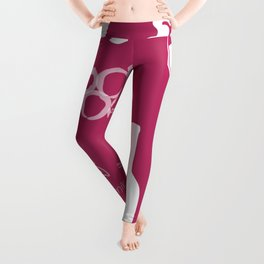Wine Background Pattern - 05 Dark Leggings