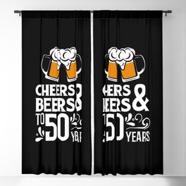 50th Birthday Gift Celebrate Beers 50 Year Old Bday Gift Blackout Curtain