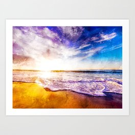 California Sunset, USA Art Print
