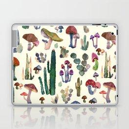 mushrooms and cactus Laptop & iPad Skin