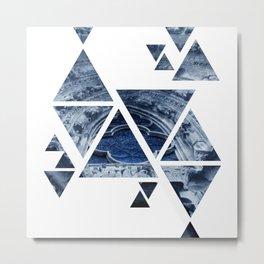 Notre de Triangle Metal Print