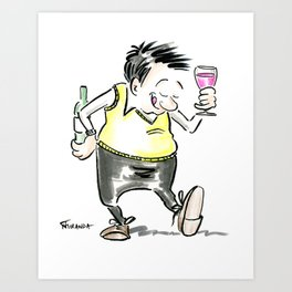 Wine O'Clock Art Print