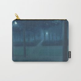 Nocturne in the Park, Midnight, Night Scene by William Degouve de Nuncques Carry-All Pouch