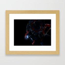 chappie head Framed Art Print