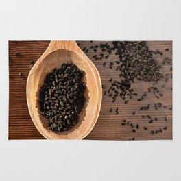 Black Nigella Sativa dry seeds portion Rug