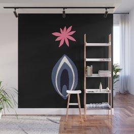 de Flower [black] Wall Mural
