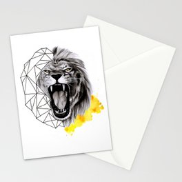 YELLOW LION Stationery Cards