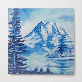 Winter Mt. Rainier Metal Print