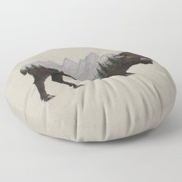 The Land of the Bison Floor Pillow