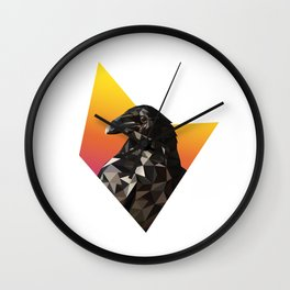 Low Poly Raven Wall Clock