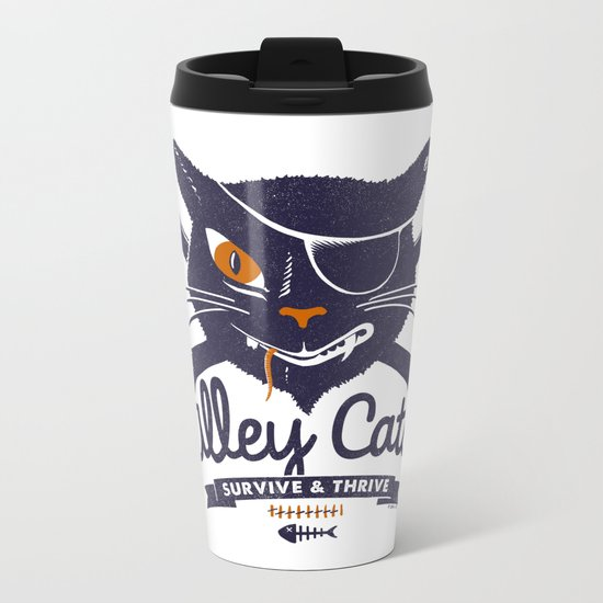 Alley Cats Metal Travel Mug
