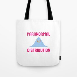 Paranormal Distribution Halloween Ghost Normal Math Geek Tote Bag