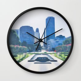 OKC Summers Wall Clock