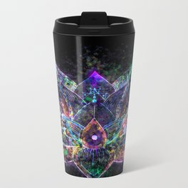Lotus Flower Glow Metal Travel Mug