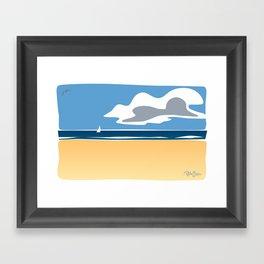 Beach Scape 1 Framed Art Print