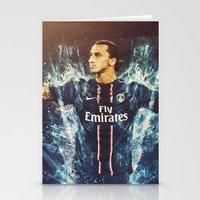 zlatan Stationery Cards featuring Zlatan Ibrahimović PSG by Max Hopmans / FootWalls