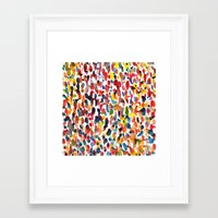 it crowd Framed Art Prints featuring crowd by cheryl warrick designs