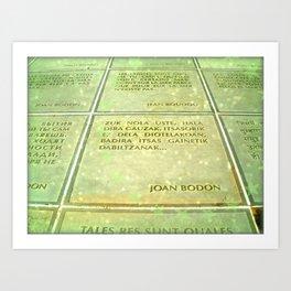 Joan Bodon Art Print