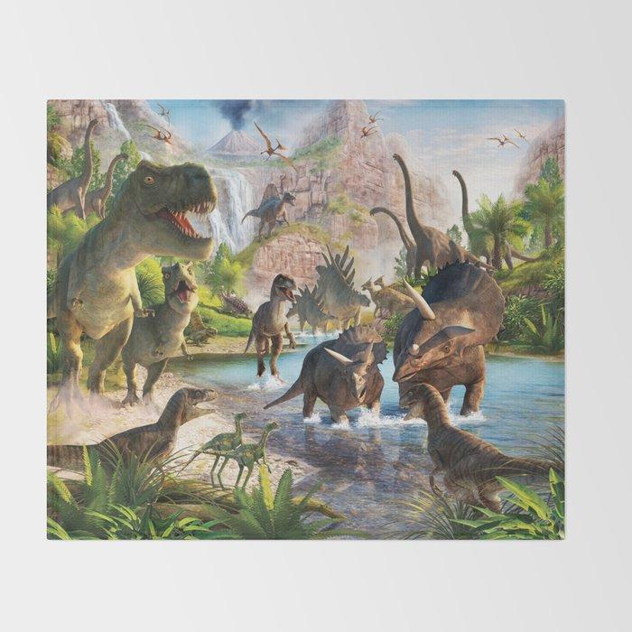 Jurassic dinosaur Throw Blanket