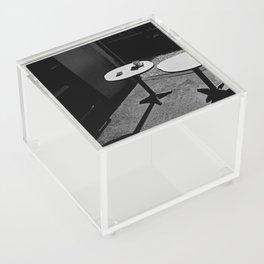 Two sunny tables (B&W) Acrylic Box