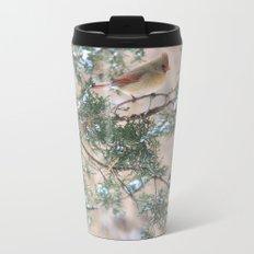Winter Pair (Northern Cardinals) Metal Travel Mug