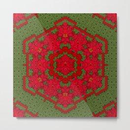 bloom in yule  mandala season colors Metal Print