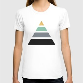 DIVIDED PYRAMID TRIANGLE WIT GOLDEN CAPSTONE T-shirt