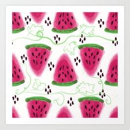 Watermelon pattern. Art Print