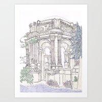Pen + Ink SF Palace of Fine Arts Art Print